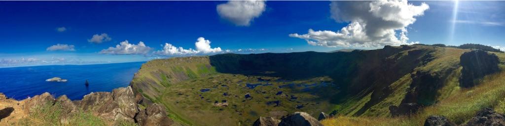 絶景 オロンゴ火山湖