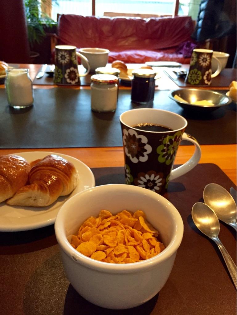 バリローチェの宿の朝食はおしゃおしゃれ