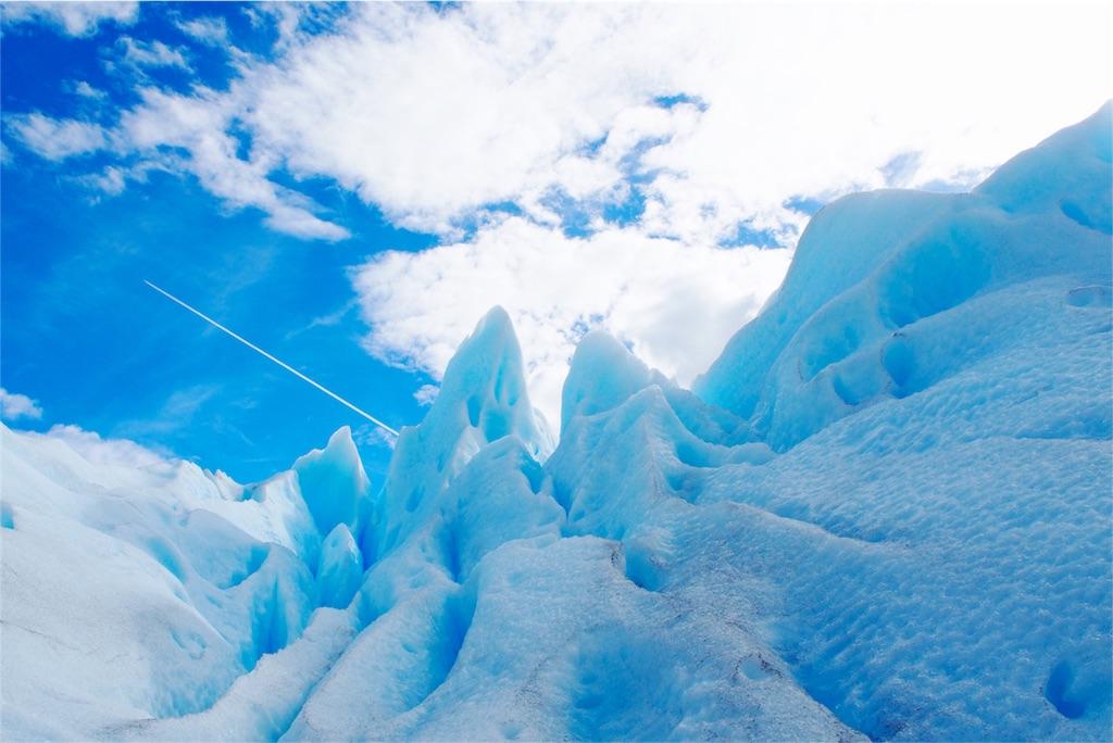 氷河と飛行機雲♡