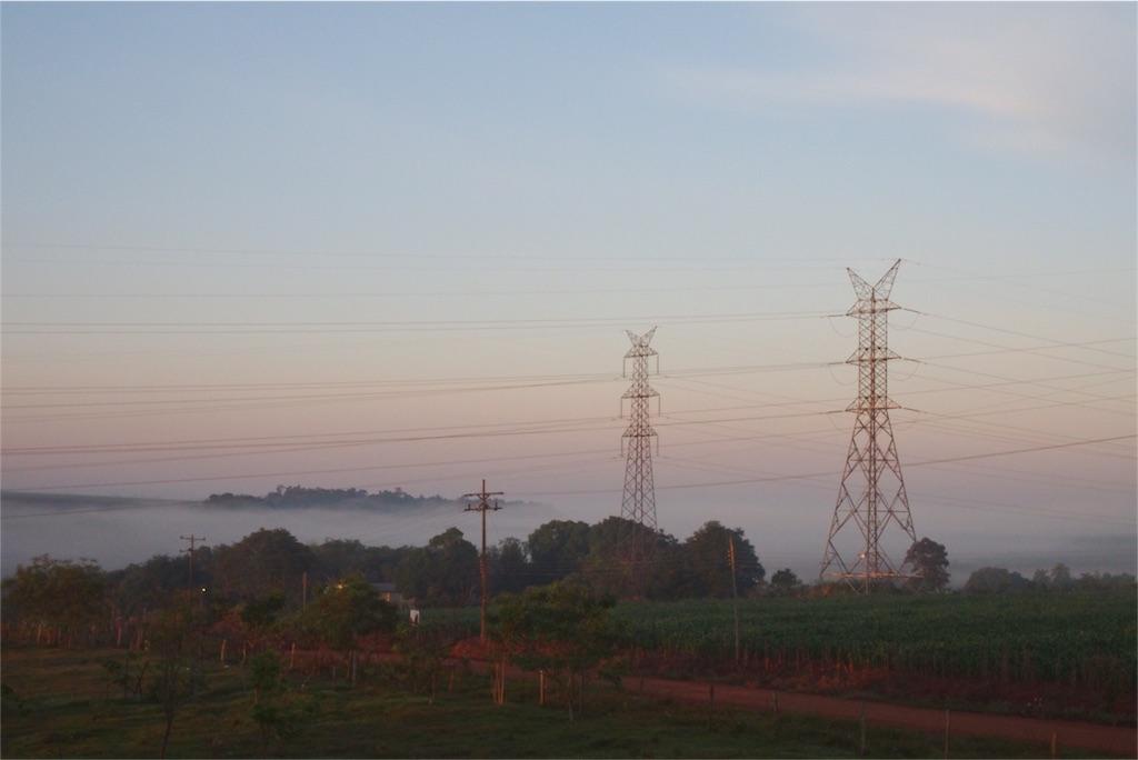いつかの朝のパステルカラーの景色