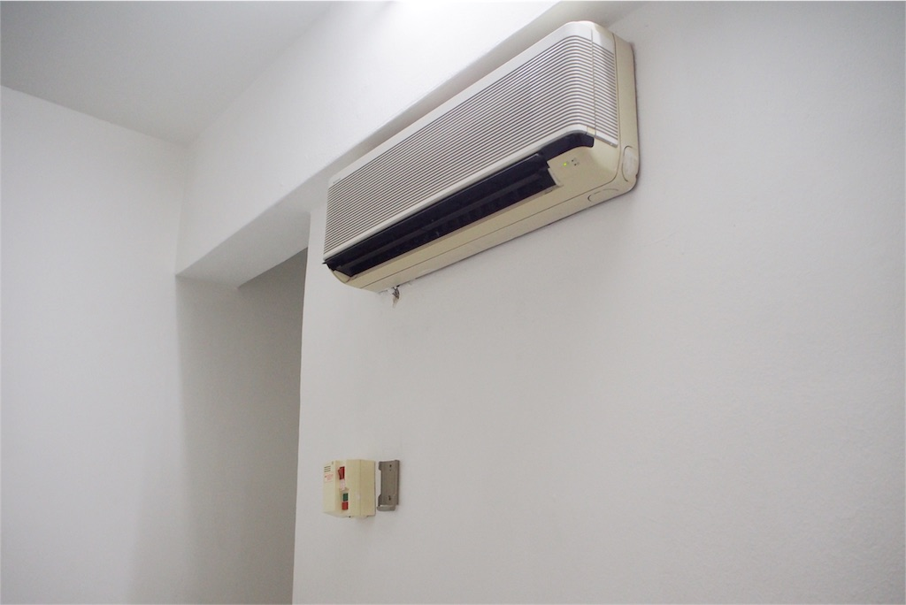 年末年始でも暑いKLではエアコンが必須