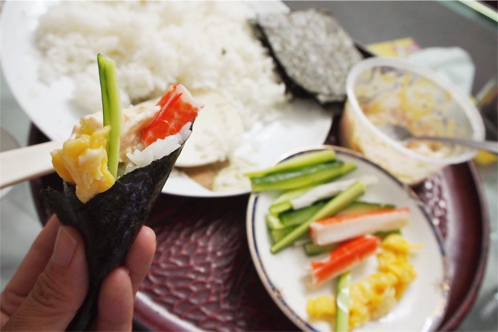 この日は手巻き寿司セット