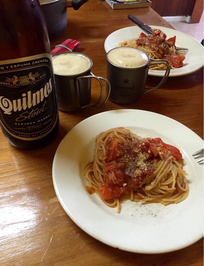 旅の定番 お手軽トマトパスタ