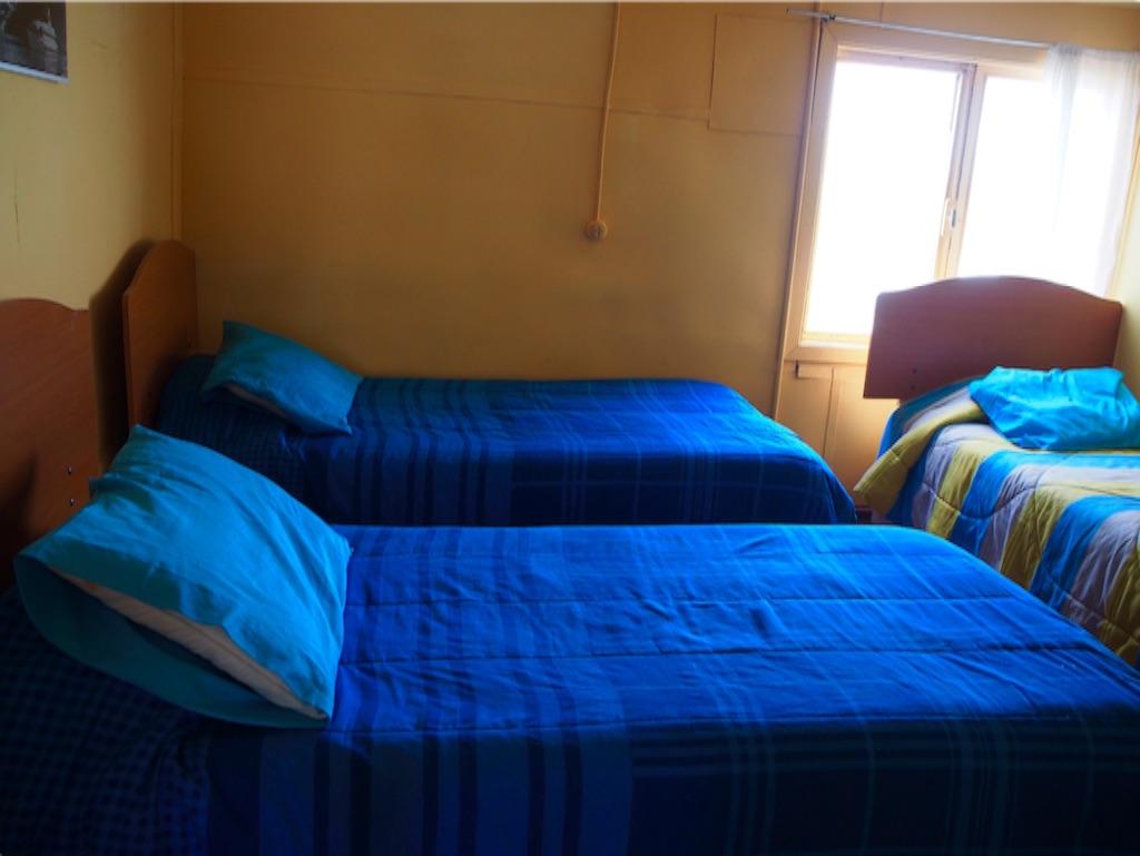 プエルトナタレスの宿の3ベッドルーム