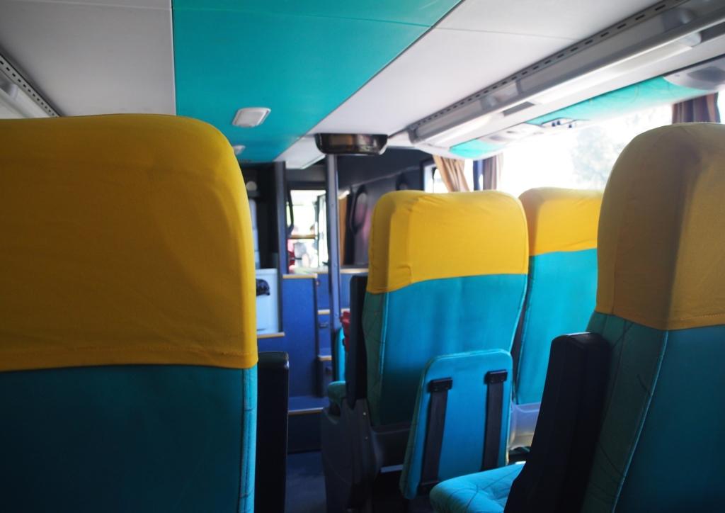 TAQSA社のバス 車内の様子その①