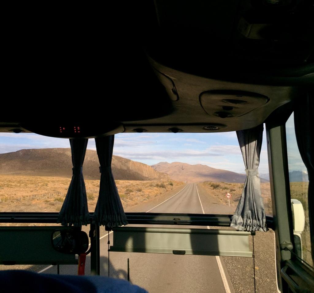 ロスグラシアレス国立公園への道