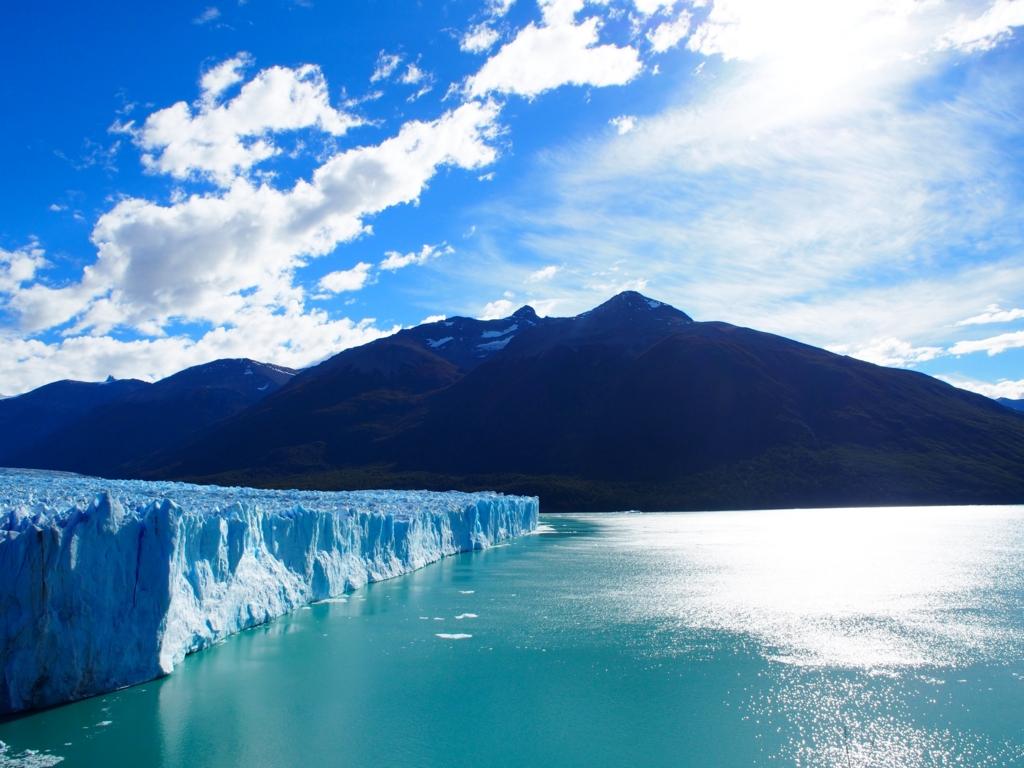 ペリトモレノ氷河を横から眺めてみる