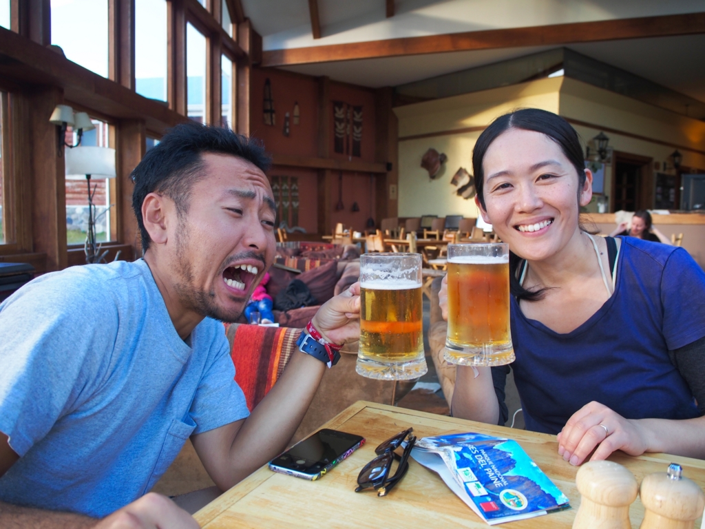 トレッキング後のトレッキング後のビールは最高