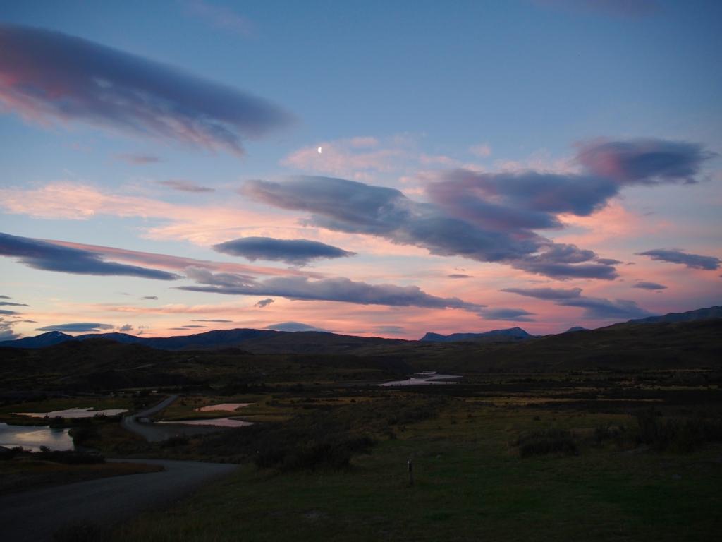 パイネ国立公園の夕景