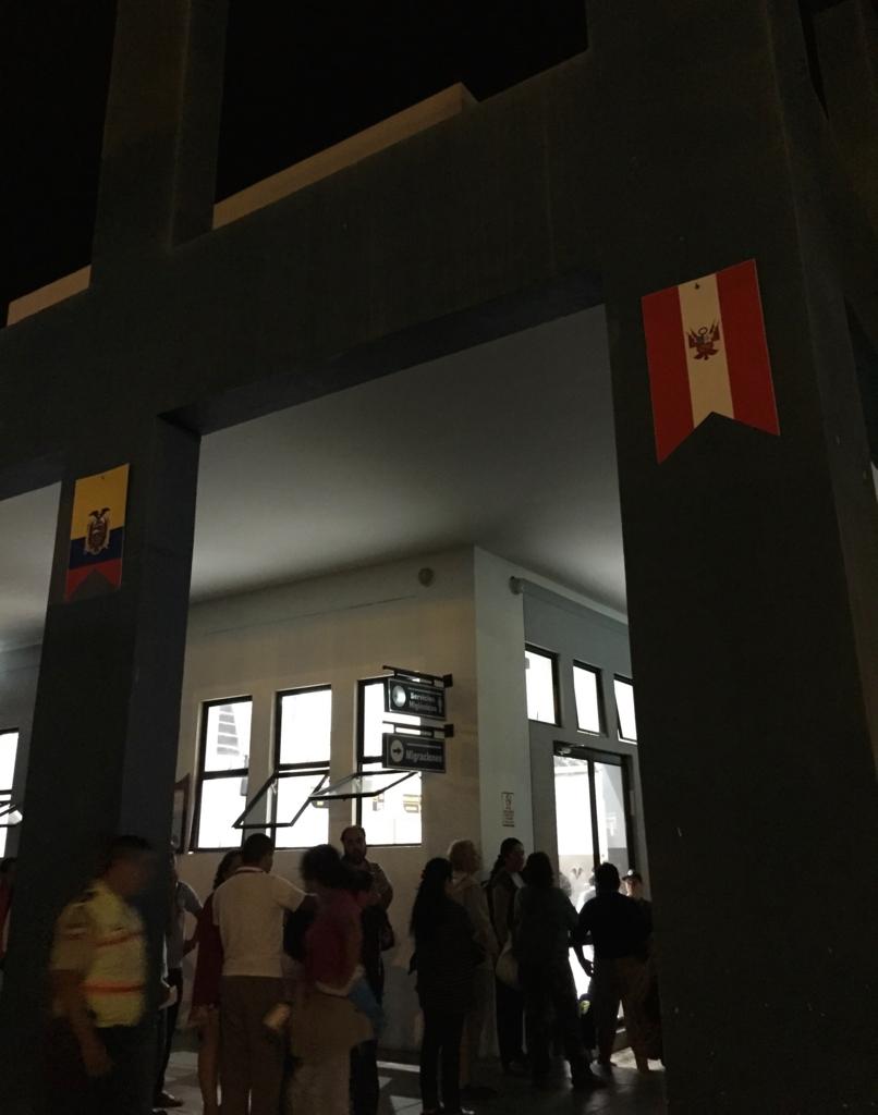 7カ国目エクアドルに入国