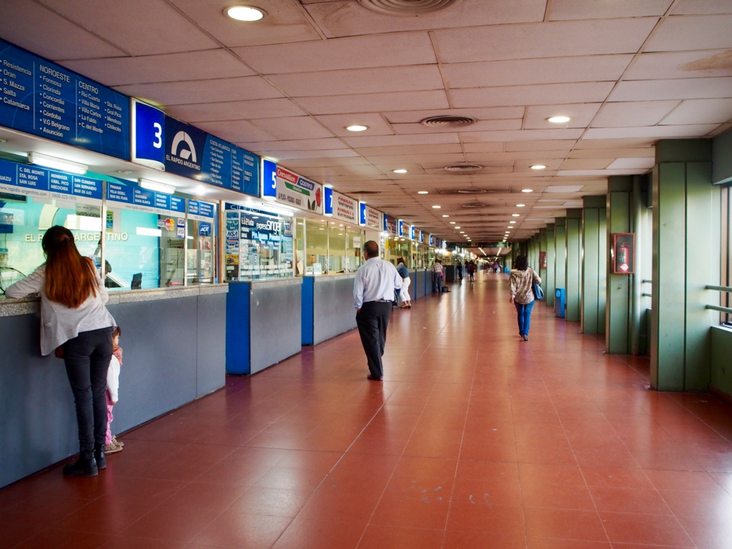 ブエノスアイレスのバスターミナルの様子