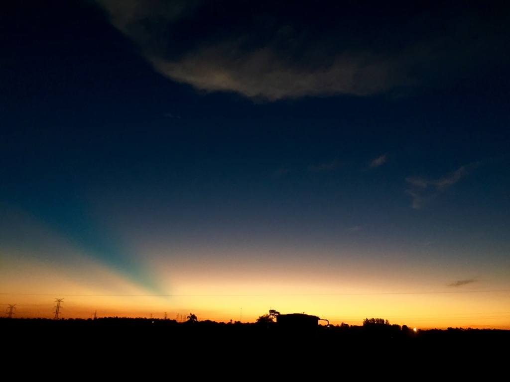 民宿小林から見えるある日の夕焼け