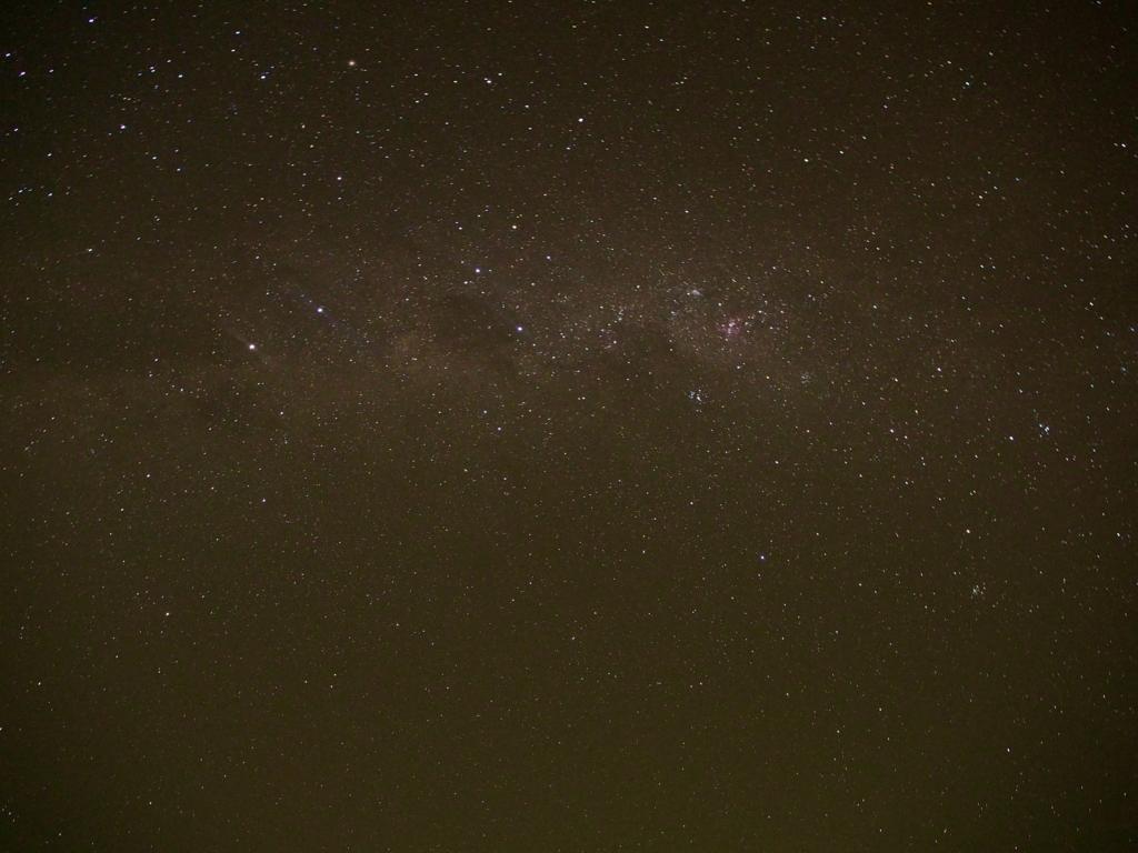 民宿小林から見える満点の星空