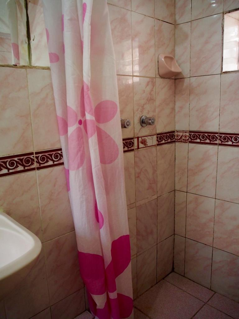 ペルー クスコの宿のシャワールーム