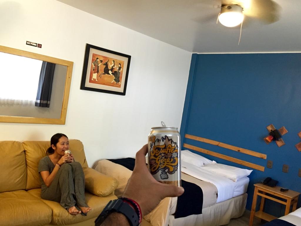 イカの宿の客室は広々快適空間