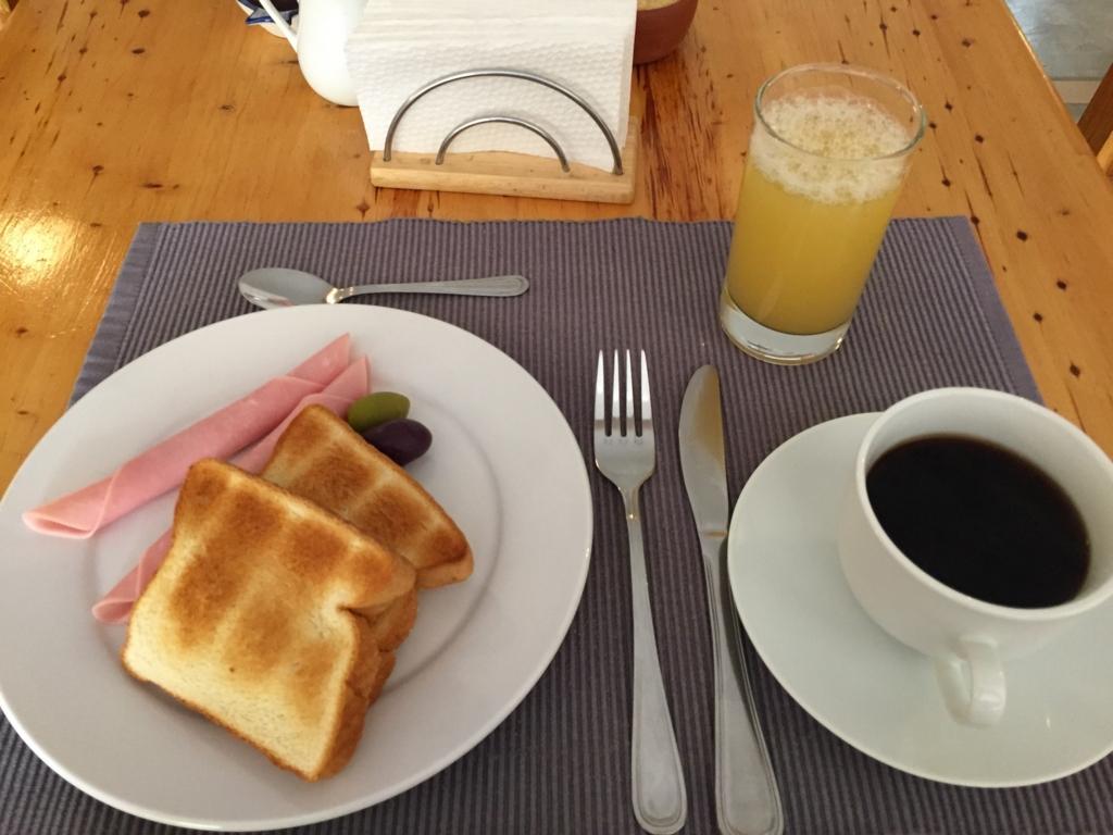 イカの宿の朝食
