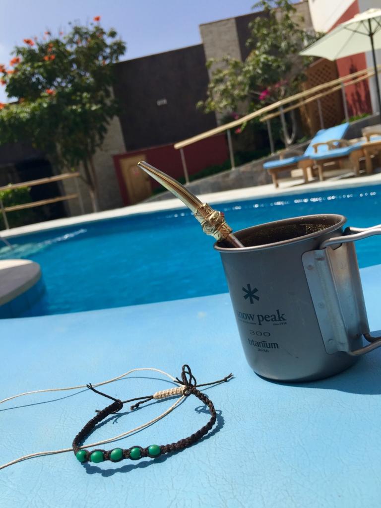 マテ茶とマクラメとプールと