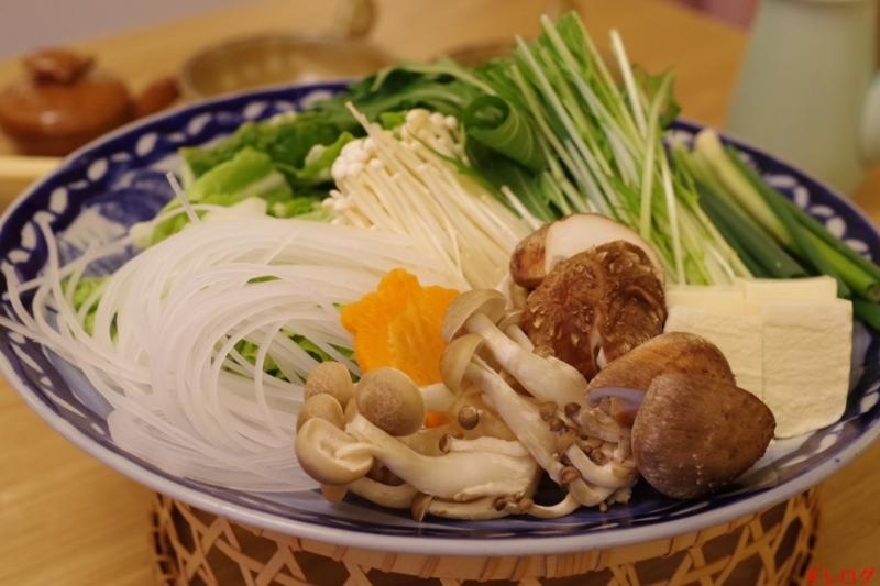 スッポン鍋の野菜