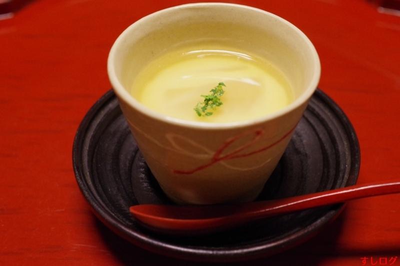 筍と牡蠣の茶碗蒸し