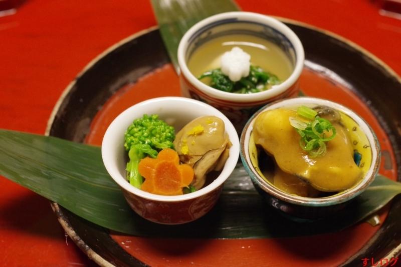 牡蠣の時雨煮、牡蠣のカレー煮、牡蠣のゼリー寄せ