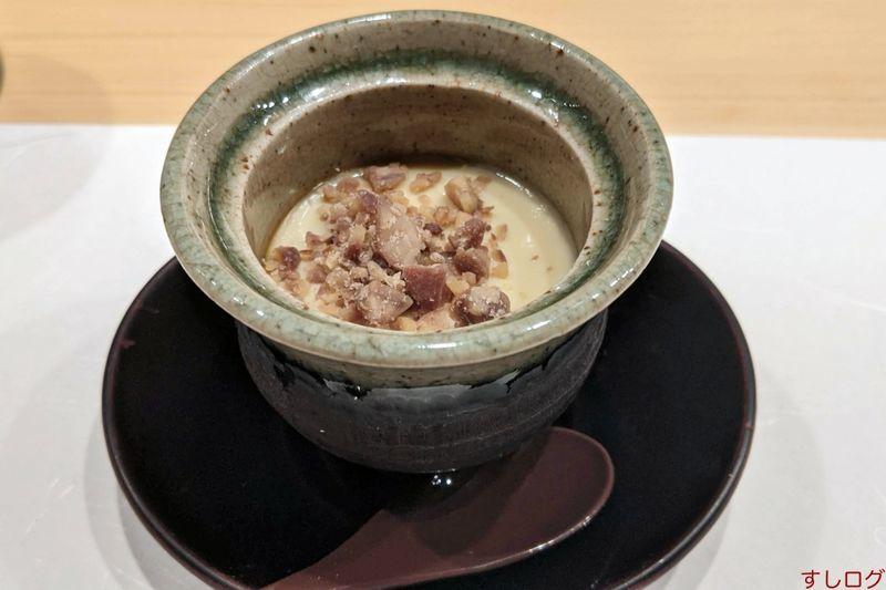 栗とキノコの茶碗蒸し
