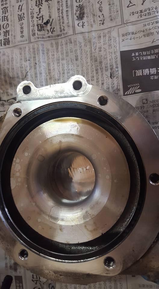 RB26エンジンオーバーホール_タービンコンプレッサー洗浄