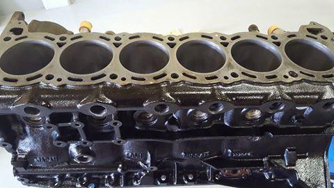 RB26エンジンオーバーホール_ブロックの洗浄