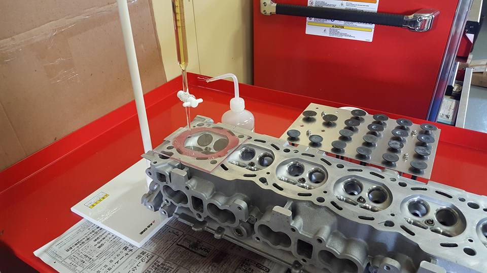 RB26エンジンオーバーホール_段付き修正(ビュレット)