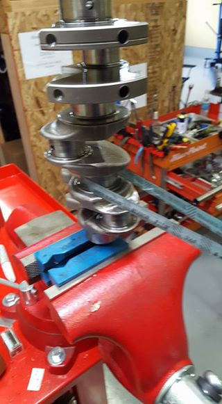 RB26エンジンオーバーホール_クランクシャフトのラッピング
