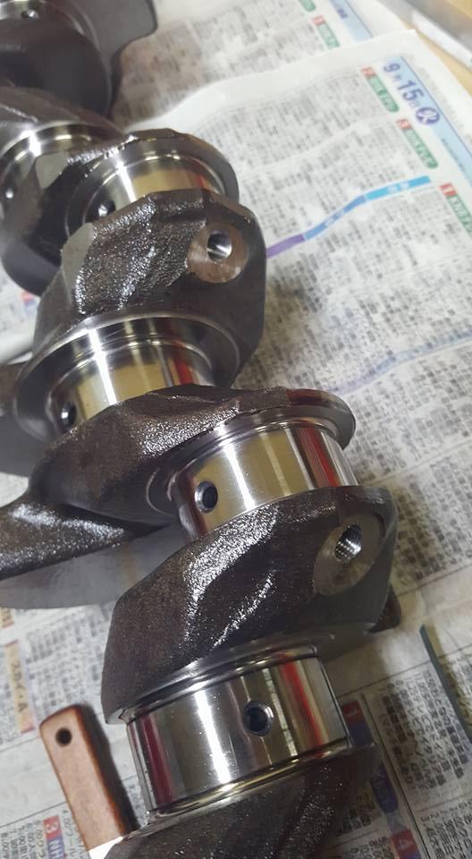 RB26,エンジンオーバーホール,クランク油穴のメクラ加工05