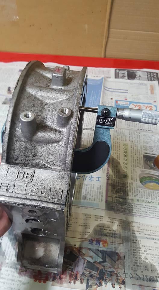 13Bオーバーホール_ローターハウジングの洗浄・計測2