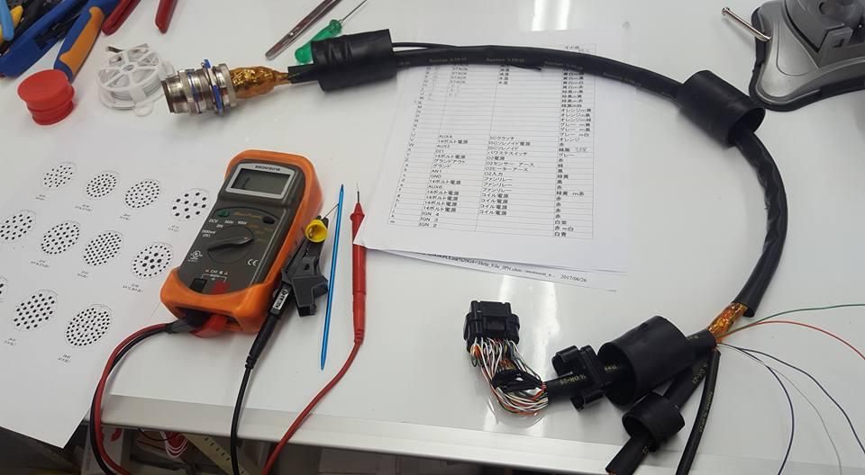 ワイヤリング_室内側ハーネスの導通テスト