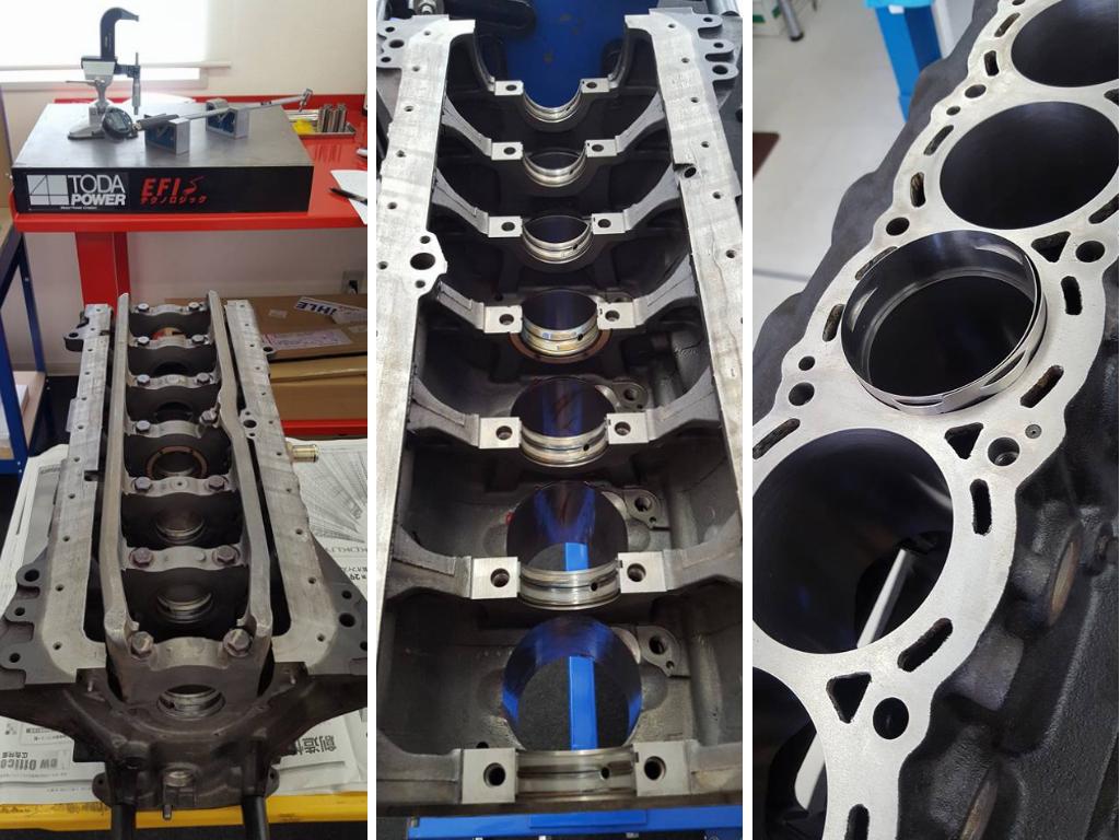 RB25コンプリートエンジンの組み付け準備_入れ替え&計測作業