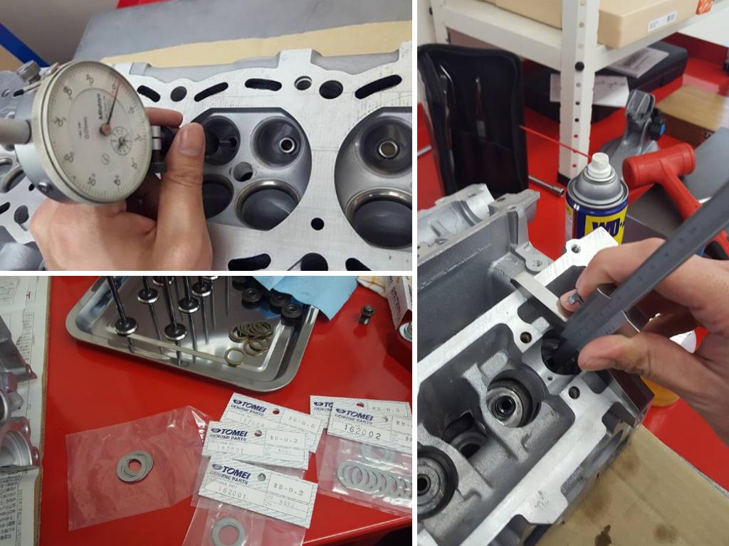 RB26エンジンオーバーホール_ヘッドの組み付け