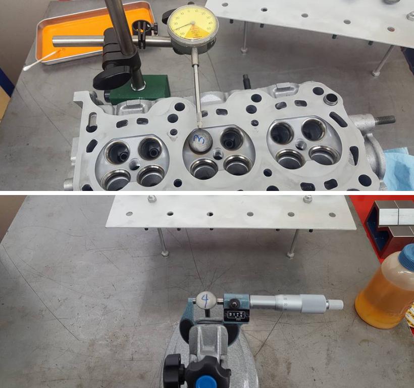 K6Aエンジンヘッド計測