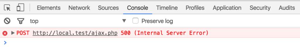ajaxのエラー(500 internal server error)の解決方法 - バカンス
