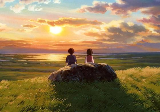 美しすぎる草原の夕日
