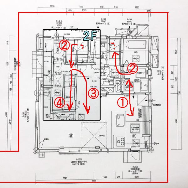 家事動線の間取り図解
