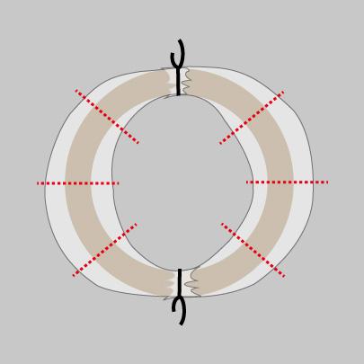 チュールリースの作り方3