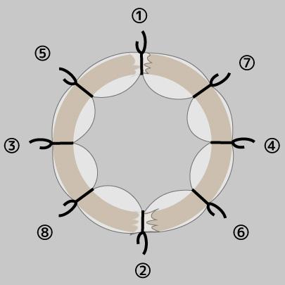 チュールリースの作り方4