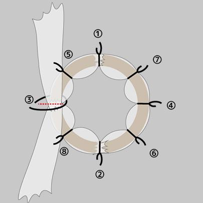 チュールリースの作り方5