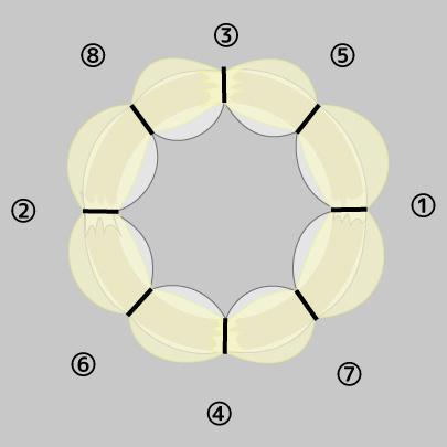 チュールリースの作り方7