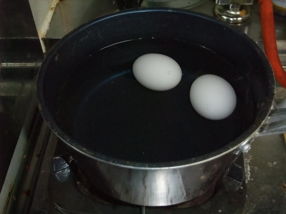 夜食 ゆで 卵