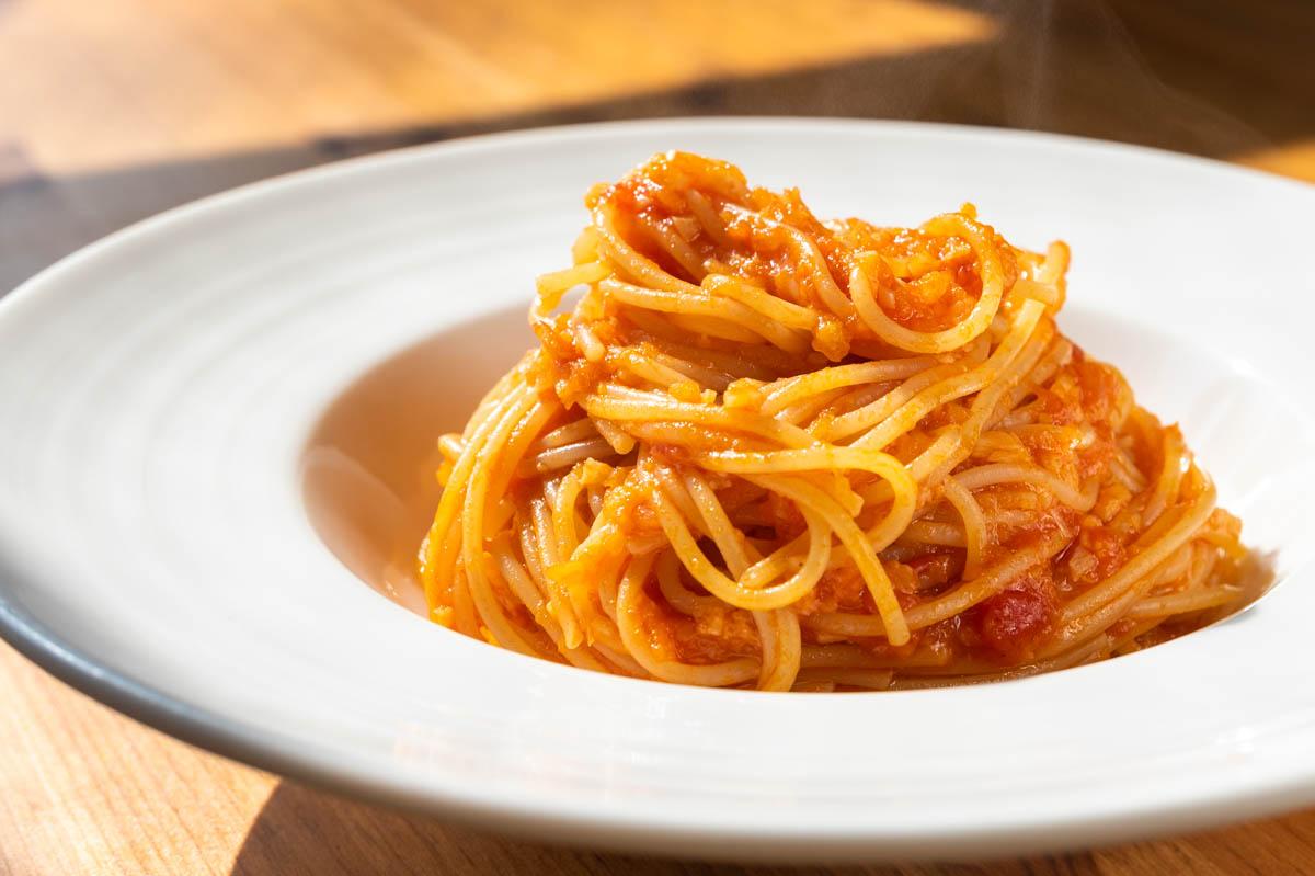 にんにくとトマトのパスタ トマトスパゲッティ トマトパスタ