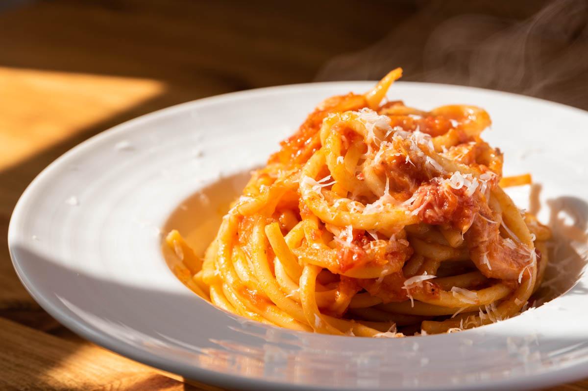 アマトリチャーナ トマトパスタ トマトスパゲッティ