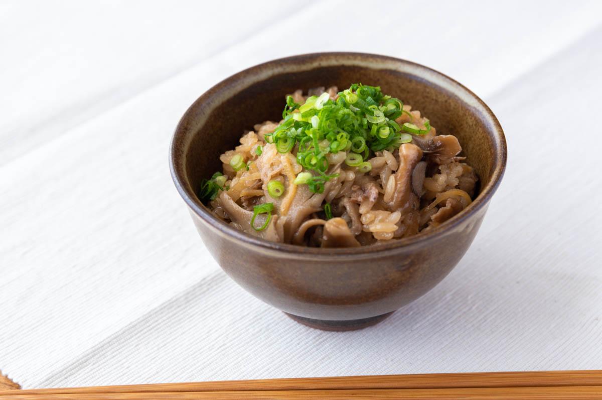 牛肉と舞茸の炊き込みご飯 牛肉の時雨煮