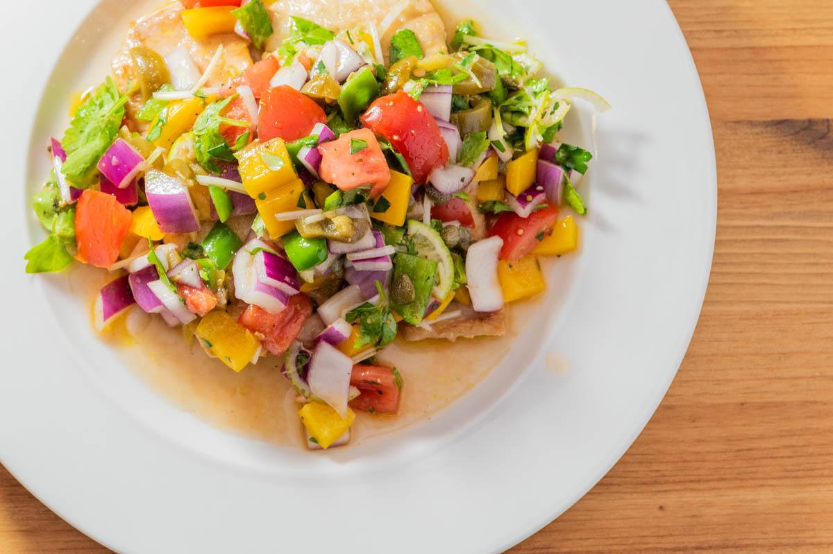 カンパチのサルサソース サルサソース カラフル 野菜