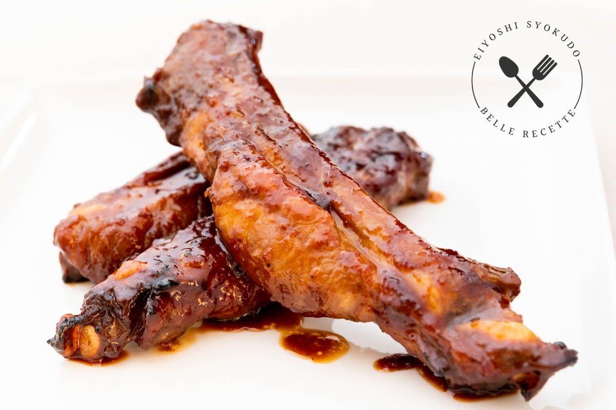 スペアリブ グレープフルーツ 豚肉 バーベキューソース