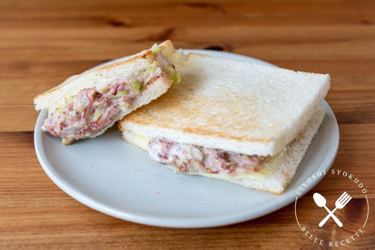 コンビーフ ホットサンド サンドイッチ