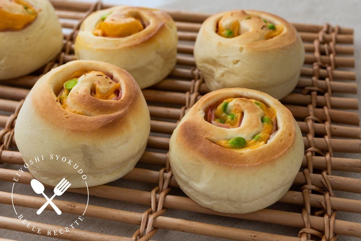 ホームベーカリー チーズパン 枝豆 ベーコン